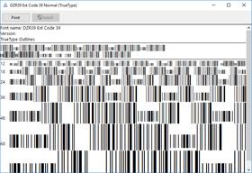 dFont Barcode Fonts for Windows - Code 39 V5.6
