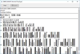 dFont Barcode Fonts for Windows - EAN/UPC V5.6
