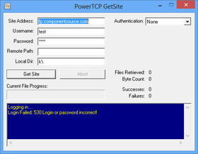 PowerTCP FTP for ActiveX V2.2.0.0