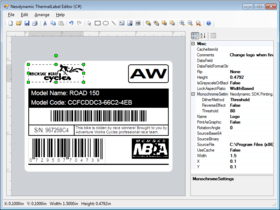 ThermalLabel Visual Editor Add-on for .NET 7.0