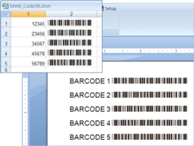MW6 Barcode Fonts