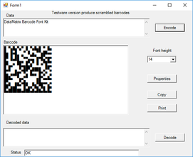 DataMatrix Font Kit V8.5