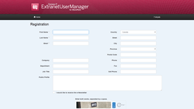 Extranet User Manager 3.2