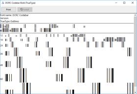 dFont Barcode Fonts for Windows - Codabar V7.1