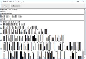 dFont Barcode Fonts for Windows - EAN/UPC V7.1