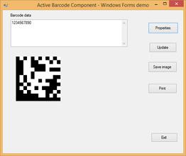 Active 2D Barcode Component - DataMatrix V8.2
