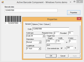 Active Barcode Component - Standard V8.2
