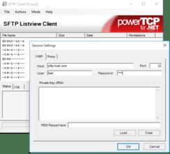 PowerTCP SSH e SFTP for .NET 4.10.2.0