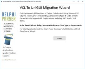 Delphi Parser VCL to UniGUI Migration Wizard