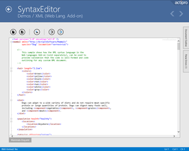 Actipro SyntaxEditor for Universal Windows 2018.1(ビルド0331)