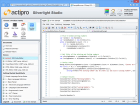 Actipro SyntaxEditor for Silverlight 2018.1(ビルド0231)
