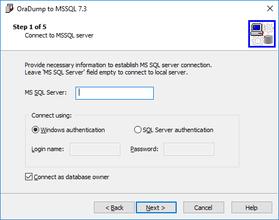 OraDump a MSSQL v7.5