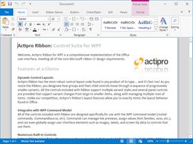 Actipro Ribbon for WPF WPF 2018.1(ビルド0676)
