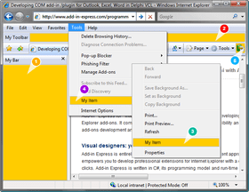 Add-in Express for Internet Explorer and Microsoft .net 10.0.6240