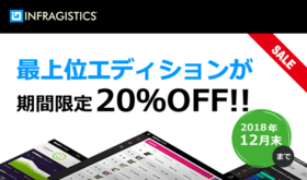 Infragistics プライオリティサポート特価キャンペーン。