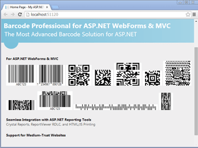 Neodynamic Barcode Professional for ASP.NET - Ultimate Edition V12