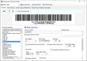 Neodynamic Barcode Professional for Windows Forms - Basic Edition V12