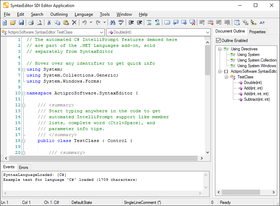 Actipro SyntaxEditor for WinForms 2020.1(ビルド0401)