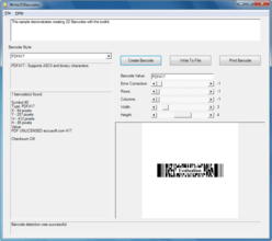 Barcode Xpress ActiveX v13.2