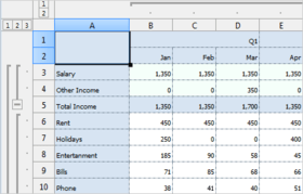 MindFusion.Spreadsheet for Java Swing V1.0.6