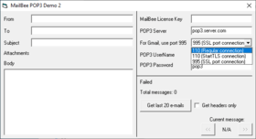 MailBee Objects POP3 v9.3