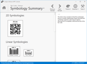 Actipro Bar Code for WPF 2020.1