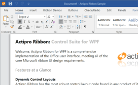 Actipro Ribbon for WPF 2020.1