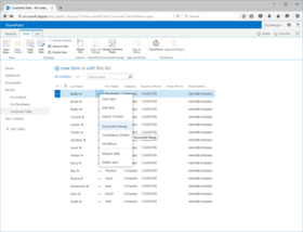 SharePoint Document Merge released