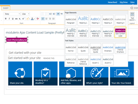 SharePoint Ajax Content Load released