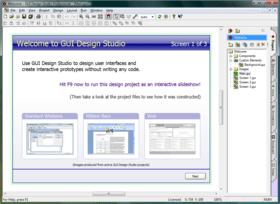 GUI Design Studio improves prototyping