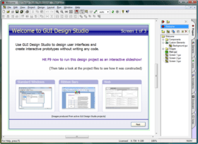 GUI Design Studio improves prototyping