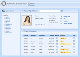 Silverlight grid supports RIA Services