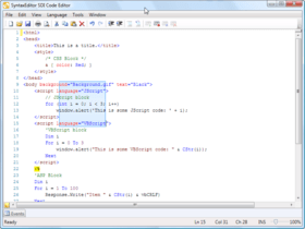 SyntaxEditor gains Web languages add-on
