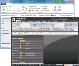 Elegant Ribbon adds Office 2010 themes