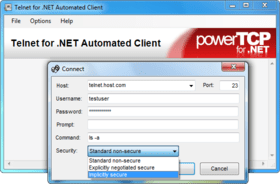 PowerTCP Telnet updates Connect method