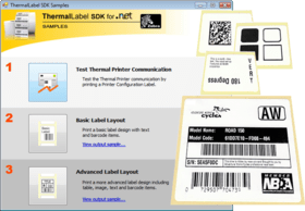 Create one label and print to either ZPL or EPL