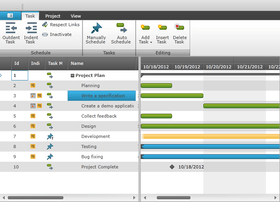 NetAdvantage adds Gantt Control