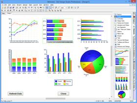 GUI Design Studio 4.6 adds Charting Elements