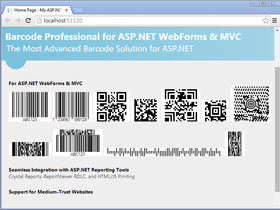 Neodynamic Barcode adds ASP.NET MVC control
