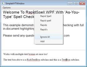 RapidSpell WPF updated