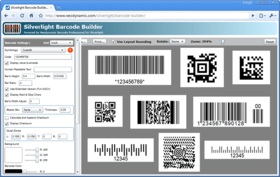 Generate barcodes from Silverlight apps