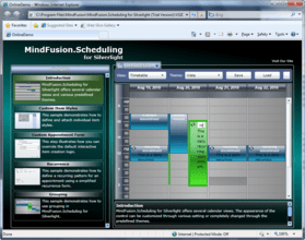 Scheduling for Silverlight now available