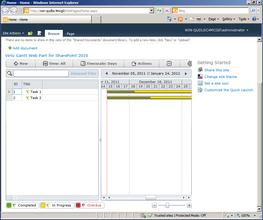 Display SharePoint tasks in a Gantt Chart