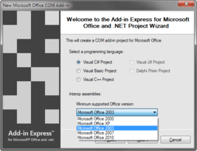 Add-in Express supports Visual Studio 11 Beta
