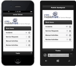 MobileFront for Service Manager がリリース