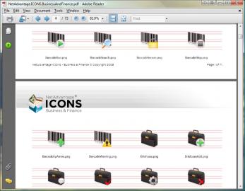 NetAdvantage ICONS Business & Finance Pack 광고