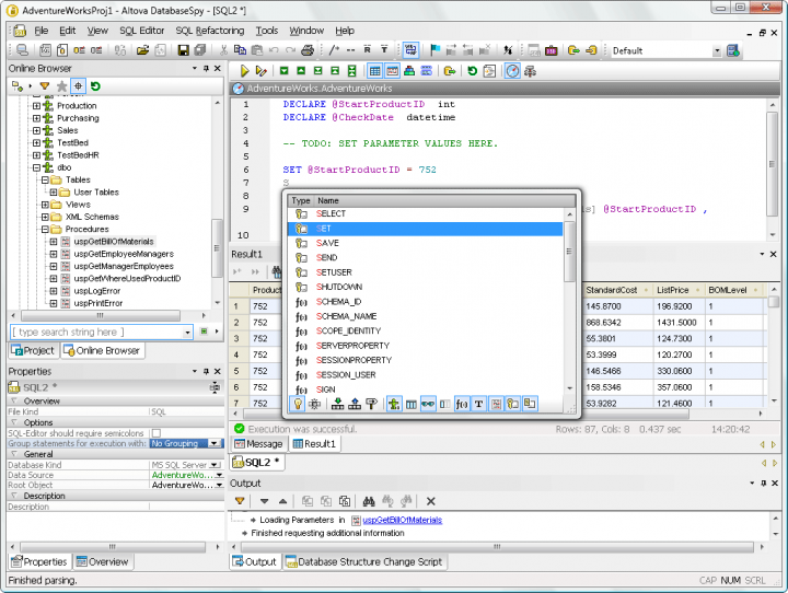 About Altova DatabaseSpy Enterprise Edition - Concurrent Users: A multi-database data management, query and design tool.