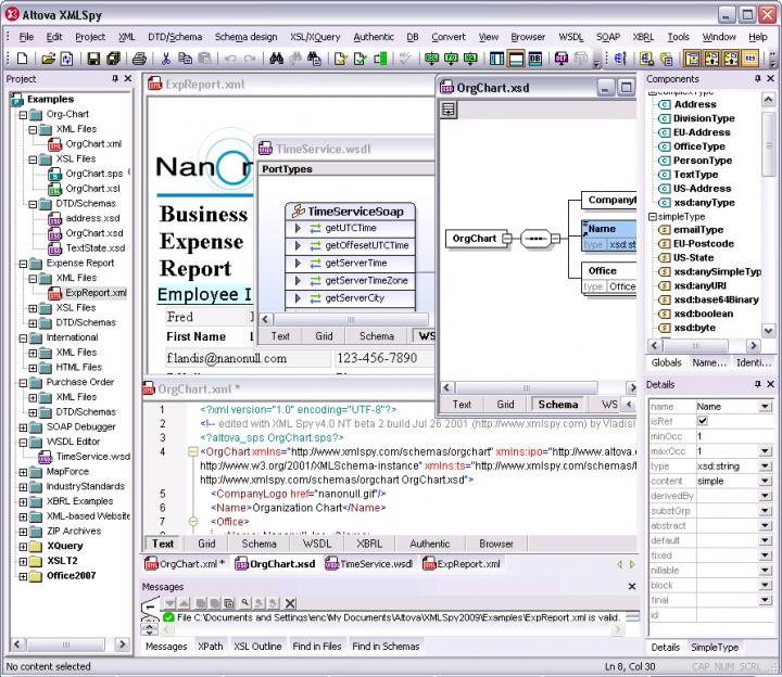 About Altova XMLSpy Professional Edition - Concurrent Users: Create advanced XML applications.