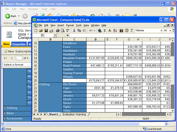 About Aspose.Cells for Reporting Services (SSRS): Add native Excel reports to your Reporting Services applications.