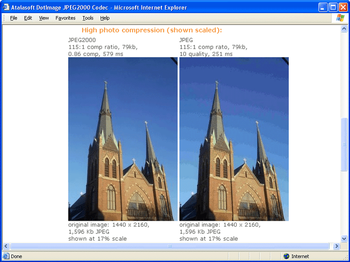 About Atalasoft DotImage JPEG2000 Codec Add-On: Compress photographic images.